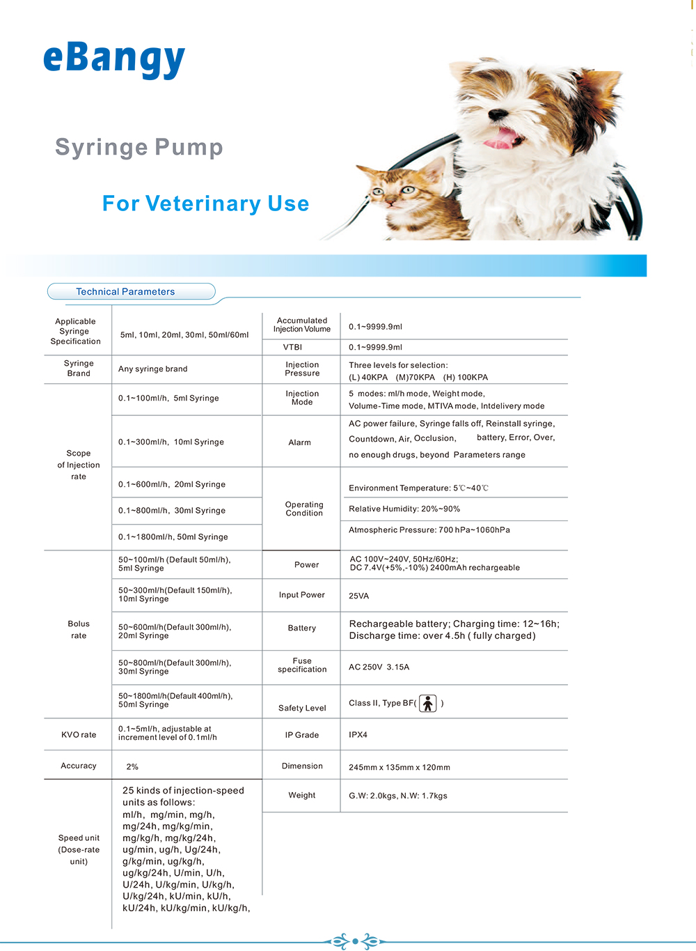 SP08V syringe pump
